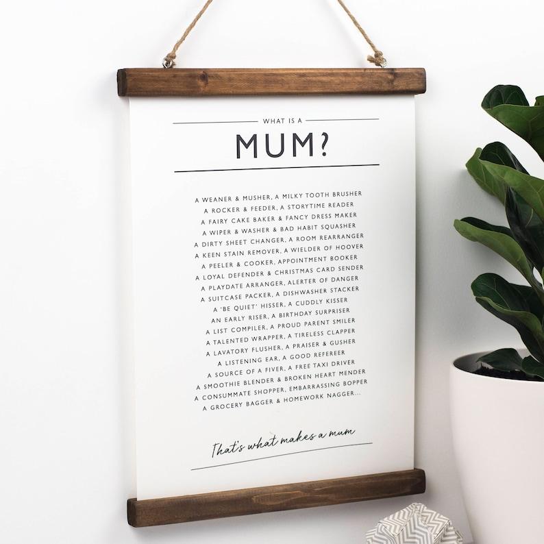 Maison Personnalisé Merci Maman Poème Imprimé Cadre