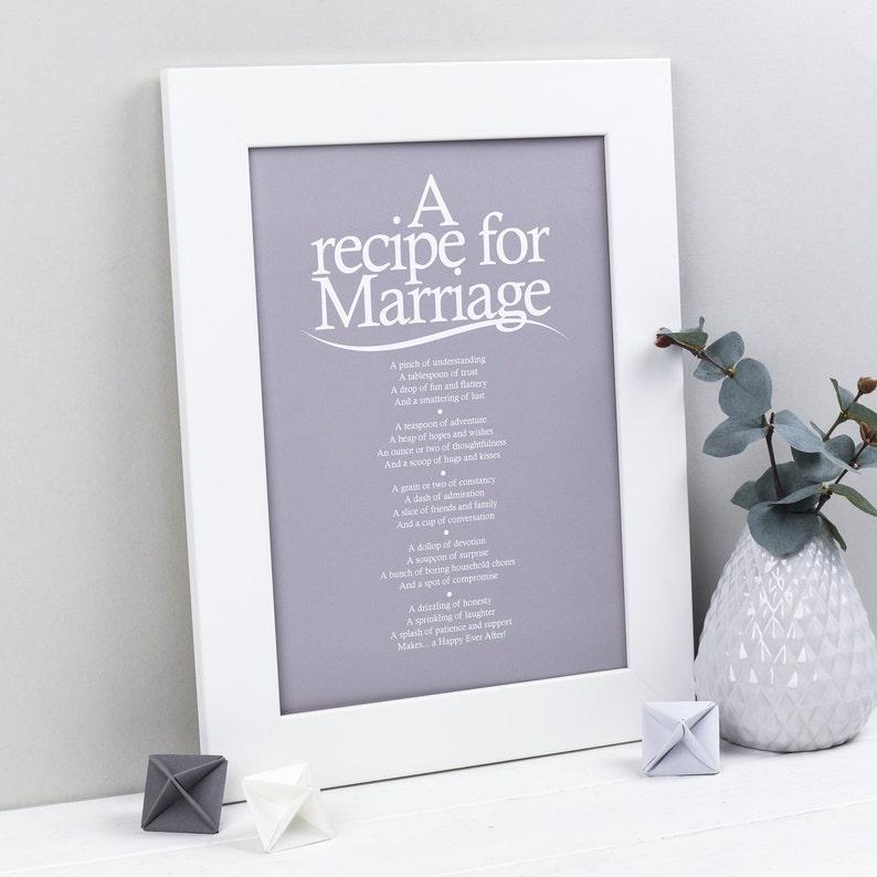 Hochzeitsgeschenk Rezept Für Hochzeit Gedicht Print Etsy