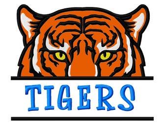 Tiger Roar Machine Embroidery Appliqu\u00e9