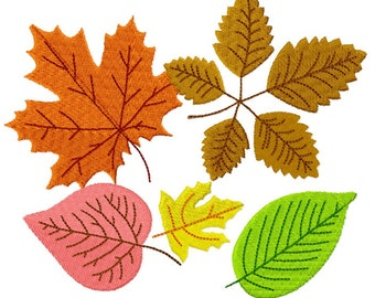 Autumn Leaves Fill Embroidery Design 6 Sizes INSTANT DOWNLOAD