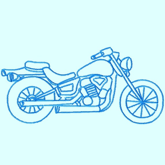 motorcycle sketch images  Motorcycle Sketch Embroidery Designs 3 sizes INSTANT DOWNLOAD | Etsy