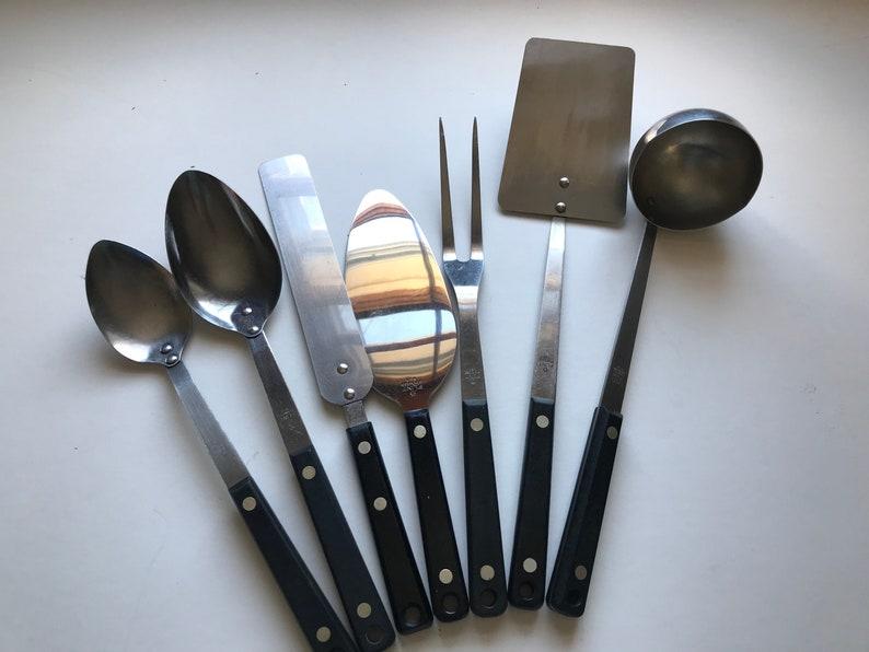 Flint set of 7 Ekco Bakelite handles vintage kitchen Kitchen Utensil