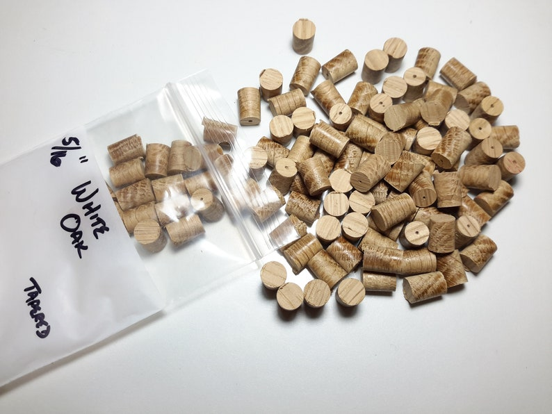 White Oak Tapered Wood plugs