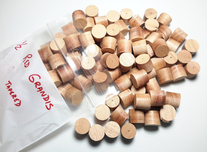 Lyptus Tapered Wood plugs Red Grandis