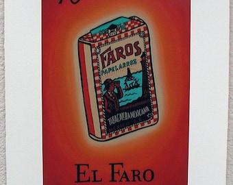 El Faro, The Cigarette, Loteria Art Print