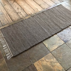 VERMONT  WOVEN  2x5Wool Rug  Grey