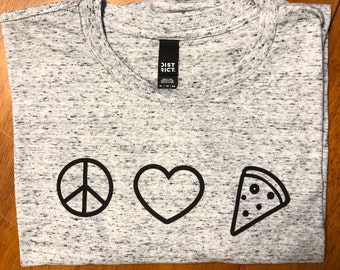 Pizza Jedi-The Dough Awakens Eco-Inks Unisex Style T-shirt Star Wars Inspired Gifts Screen Printed Pizza Lover Galaxy Shirt