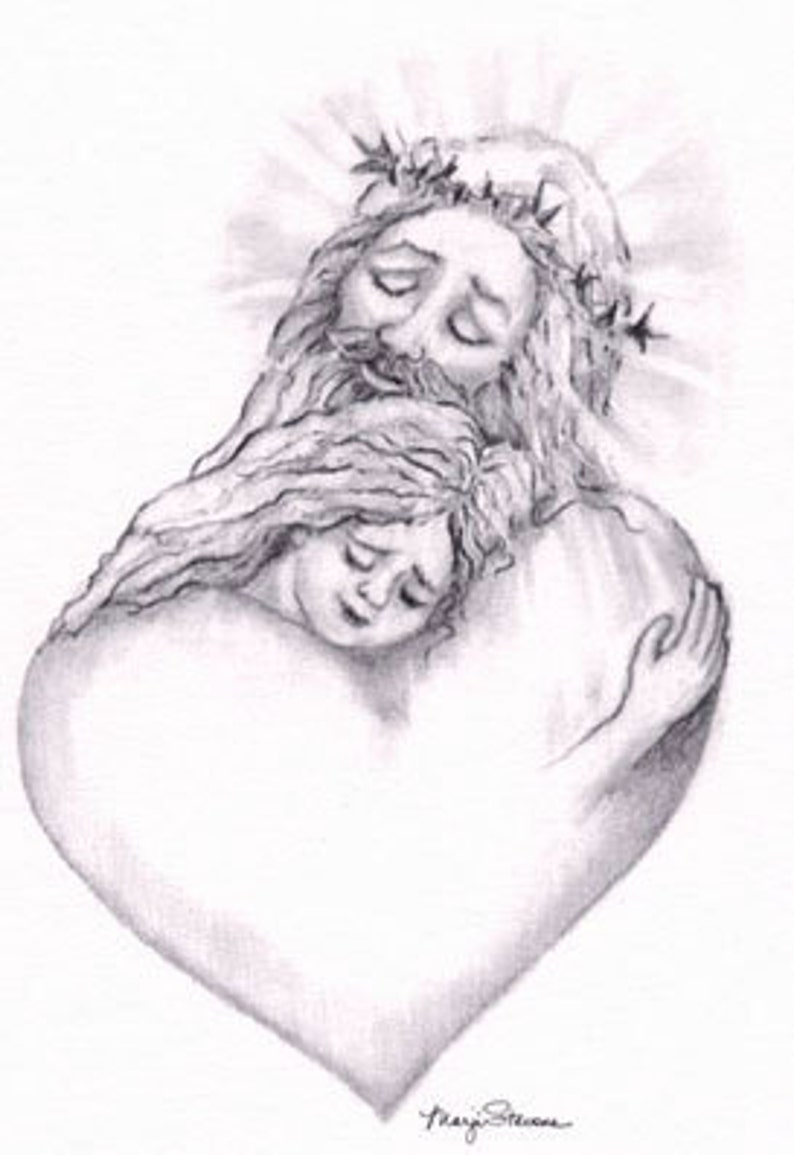 Jesus with Girl Print image 0