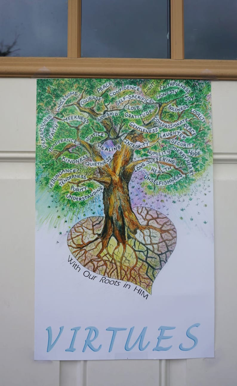 Virtue Poster by Marji Stevens With Our Roots in Him  image 0