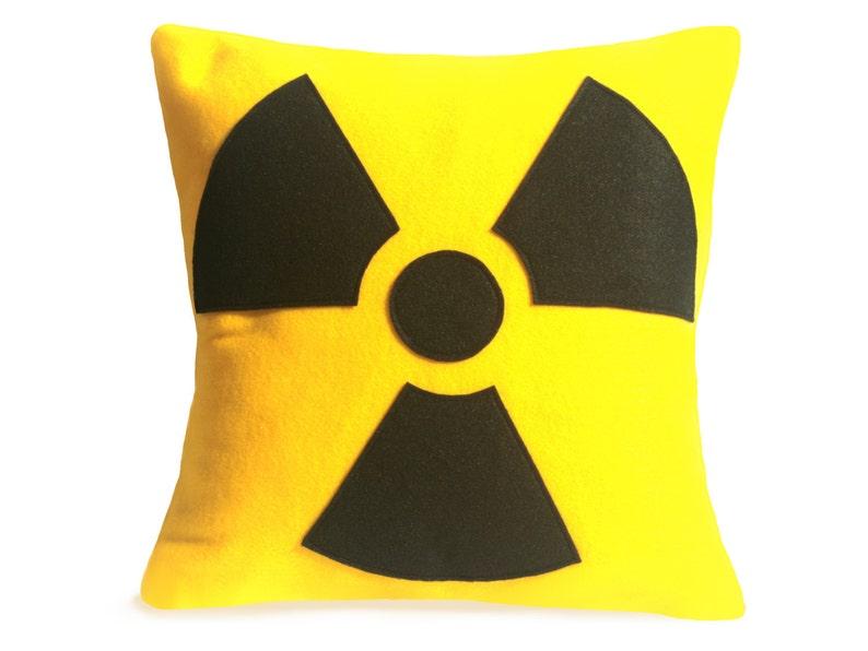 Radiation Hazard Warning  18 inches  Bright Yellow and Black image 0