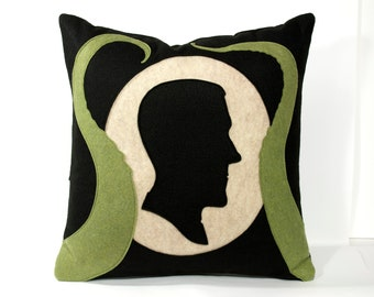 Lovecraft Pillow Cover Shadow Silhouette with Tentacles
