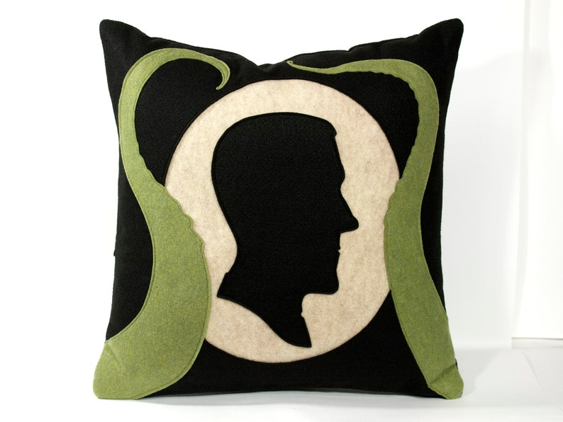 Lovecraft Pillow Cover Shadow Silhouette with Tentacles image 0