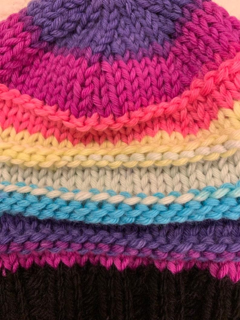 Newborn Merino Cashmere Rainbow Baby Beanie