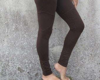 Brass and Miner Maroon Stripe Leggings