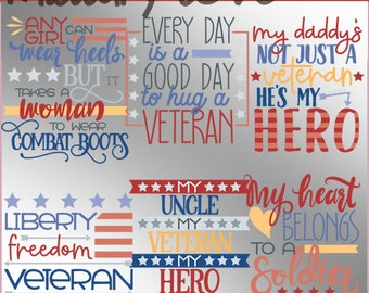 Military Love Clipart -Personal and Limited Commercial Use- Veteran and Military Wordart Clip Art