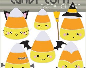 Halloween Clipart Candy Corn Cipart - Digital PNG Art