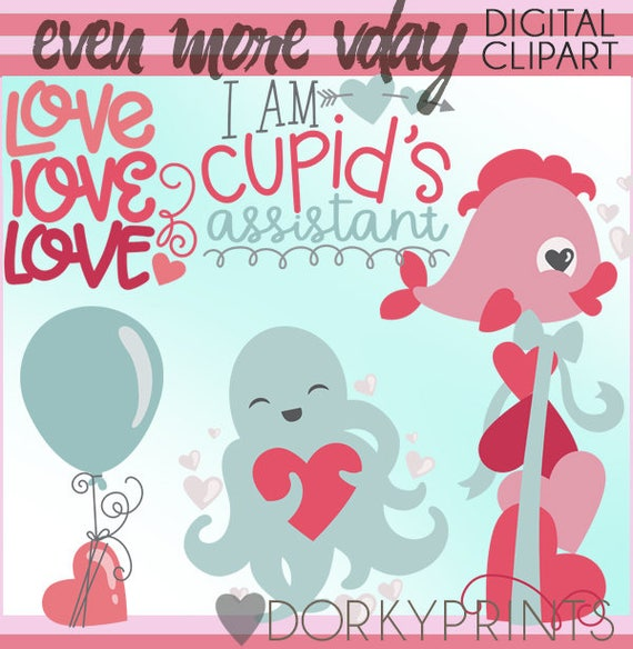 Cute Valentine Clipart Set Personal And Limited Commercial Etsy