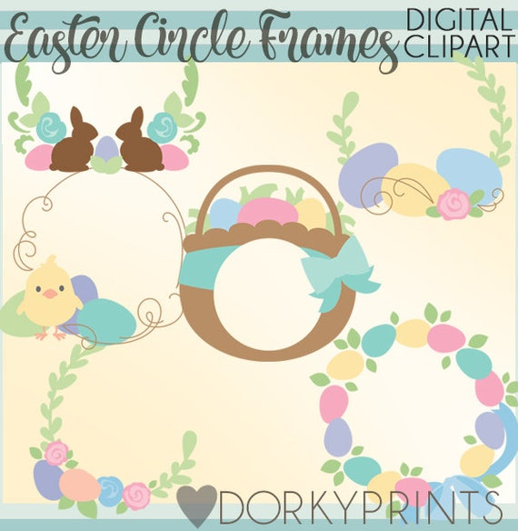 Easter Frames Clipart Set Personal and Limited Commercial   Etsy