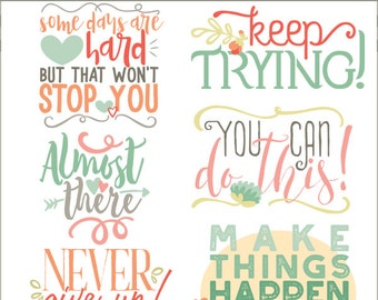 Motivation Clipart and Scrapbook Titles -Personal and Limited Commercial Use- Inspiration Clip Art