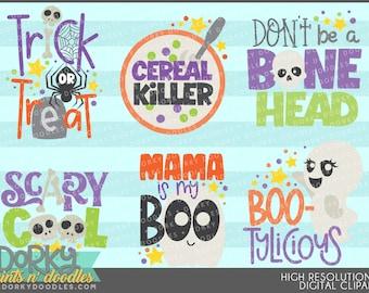 Halloween Wordart Clipart - Digital PNG Art