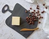 Black Ceramic Sushi Board, Hostess Gift, Pottery Cheese Board, Black Serving Board