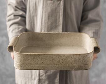 Ceramic Baking Dish, White Baking Dish, Ceramic Casserole Dish, Stoneware  Dish, Large Ceramic Pan, Wedding Kitchen Gift, Wedding gift Ideas