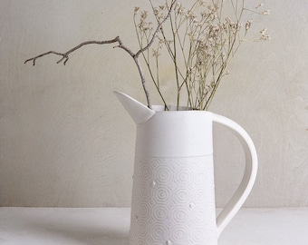 Pottery Vase, Ceramic White Vase, White Flower Vase, Modern Vase, Unique Ceramic Vase, Stoneware Vase, Handmade Ceramic Vase, Wedding Gift