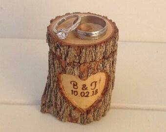 Log ring box, personalised ring box, wedding ring box, rustic ring box, engagement box, wedding, wooden ring box, anniversary, personal gift