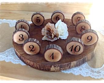 Log slice table numbers (9 to 11cm diameter)