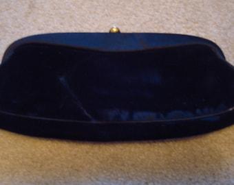 Best & CO Fifth Avenue NY Vintage Evening Clutch Black Velvet Snap Close
