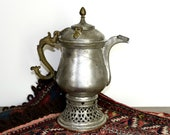 Vintage copper Samovar Indo Persian Samovar tin coated copper samovar Dallah Middle Eastern copper coffee pot.