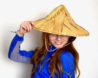 VINTAGE REED /& PALM Rice Paddy Hat Asian Hat Sun Hat Farmers Sun Hat 14 12 Across Bottom Approx 5 12 High To Middle Conicle Hat