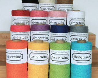 NEW LOWER PRICES! Divine Twine Choose Color 240 yds