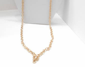 """Bright Gold Tone Chain Necklace (5736/5737) 32"""" Long"""