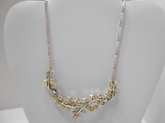Vintage Coro Rhinestone Choker Necklace (8010)