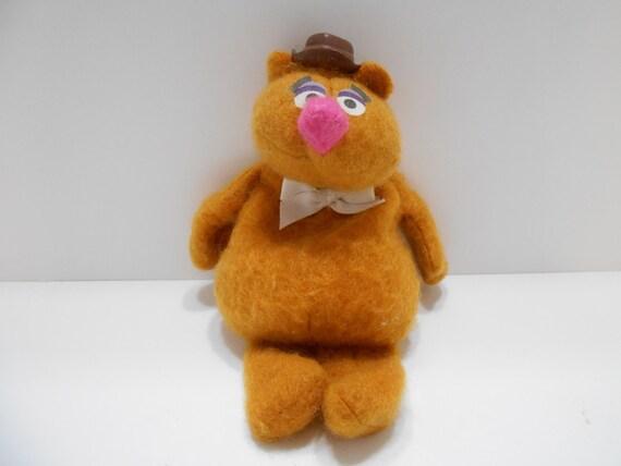 Vintage 1979 Fisher Prix Fozzie Bear Bean Bag (16-A) A Jim Henson Muppet poupée