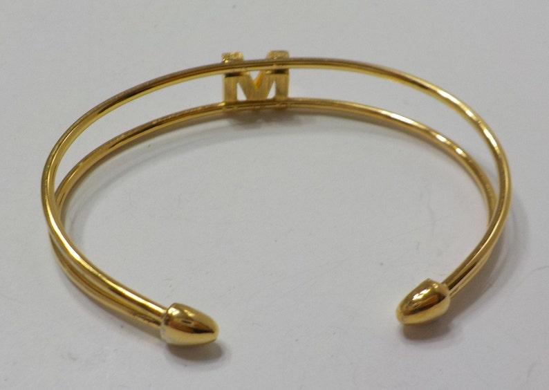 Vintage Trifair Initial M Cuff Bracelet 6616 Classic!