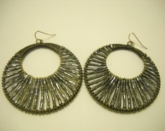Vintage 1980s Large Dangle Earrings (2504)