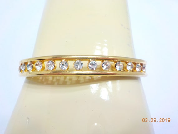 Vintage Rhinestone Bangle Bracelet (9228) Joan Riv