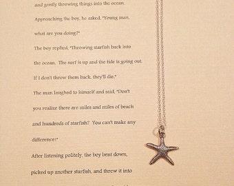 Starfish necklace with Starfish Story