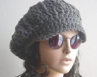 newsboy cap women hat Women s Newsboy Hat - Women s Newsboy Cap - Crochet  Hat with Visor - Knit Visor Cap - Women s Winter Hat with Brim 9dd5e02cabf