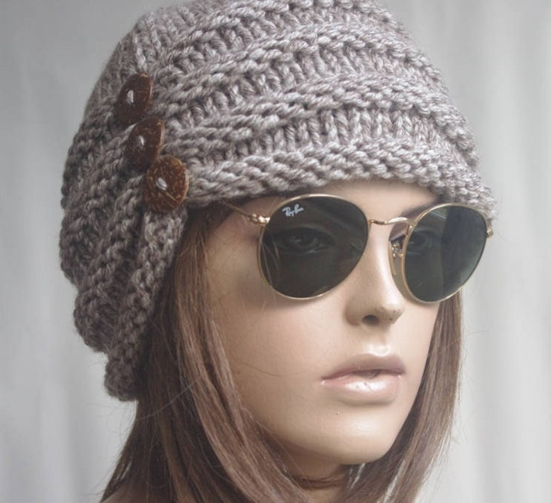 dd5a17f6fd4 Womens Hats beige chemo Hat beret Hat Slouchy Women Hat cable