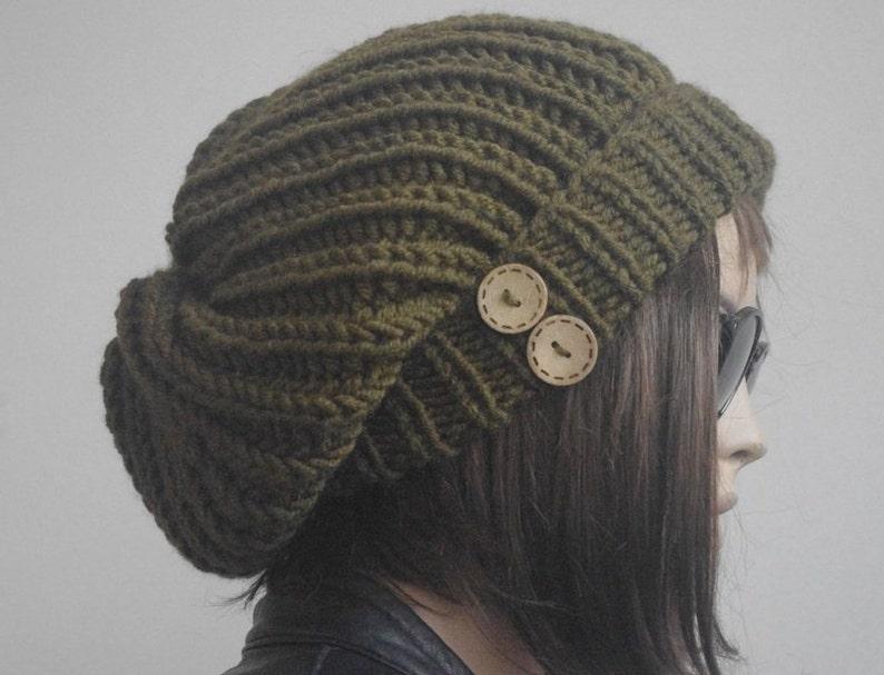 b3114e21220 Winter hat hats womens hats slouchy hat dark green knit hat