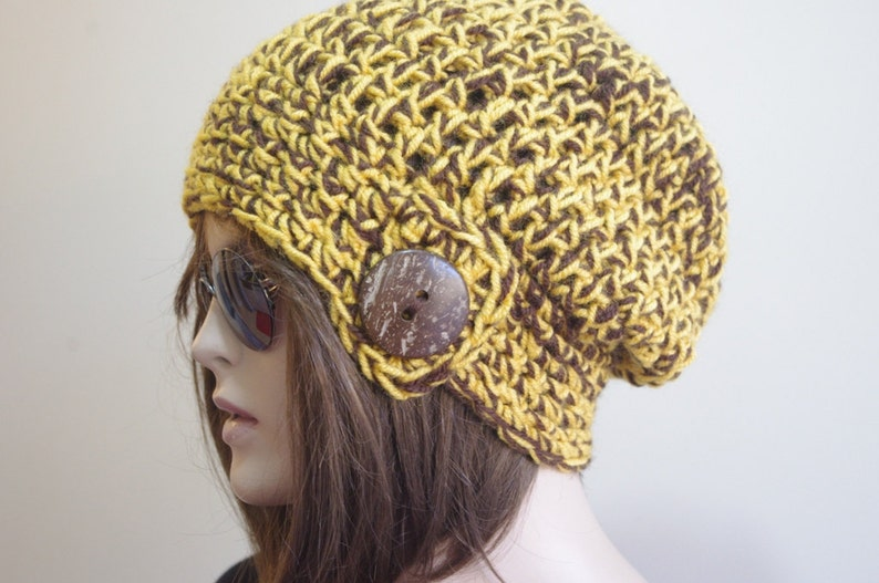 bc2ba629826 Womens hats winter hat Brown Slouchy boho Hat hippie hat