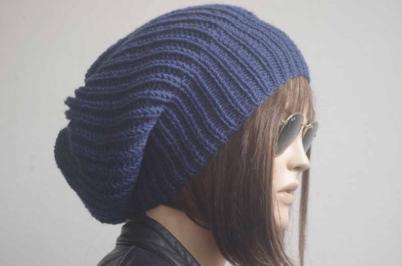 2ccf7ae2fe Winter hat womens hat knit hat chemo hat navy Blue knit hats