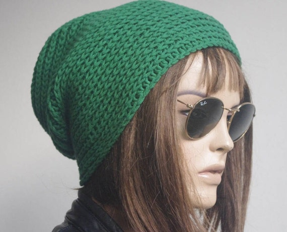3e3c526731b Womens Hats chemo Hat beret Hat Slouchy Women Hat green Slouch Beanie Women  Hat Oversized Hat Cable Hat Chunky Knit Hat