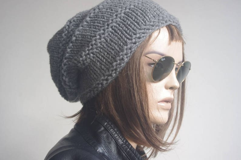 winter hat hats womens hats MENS HATS  dark gray  knit hat beanie women womens hats winter winter hats slouchy hat knitted hat