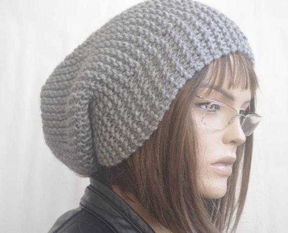Women hats MEN HAT winter hat Slouchy Hat dark GRAY Winter  840b5a878bdd