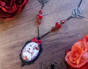 Fizzing Cherry necklace // Burlesque cabaret // Handmade