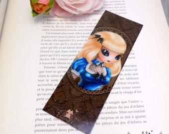 Alice glossy bookmark // Steampunk Alice cameo